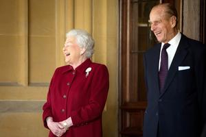 Queen Elizabeth and Prince Philip mark platinum anniversary