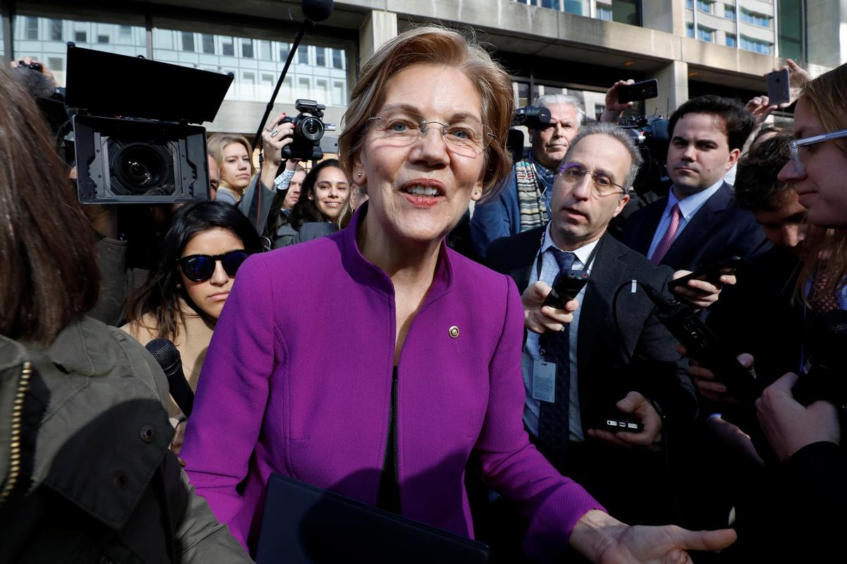 Senator Warren hits out at 'effort to politicize' U.S. consumer agency