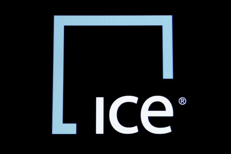 A Screen Displays The Ticker Symbol And Logo For Intercontinental Exchange Inc Ice On Floor Of New York Stock Nyse March 1 2016
