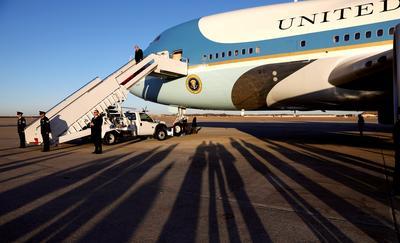 Flying President Trump