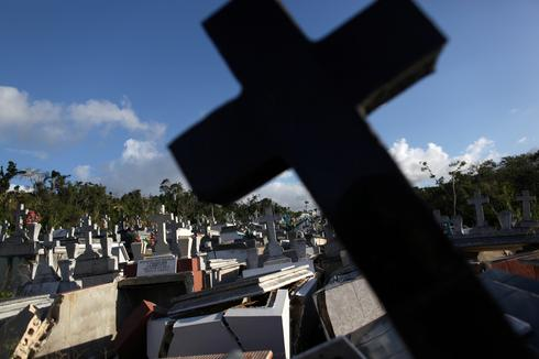 Damaged graves of Puerto Rico