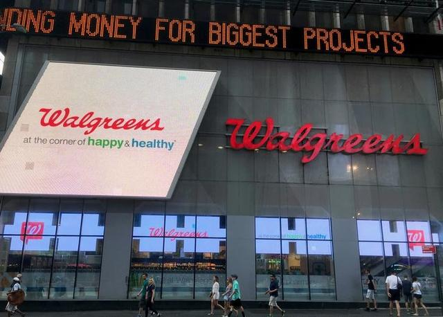 FILE PHOTO: The exterior of the Walgreens store in Times Square is seen in New York, U.S., July 5, 2016. REUTERS/Shannon Stapleton/File Photo