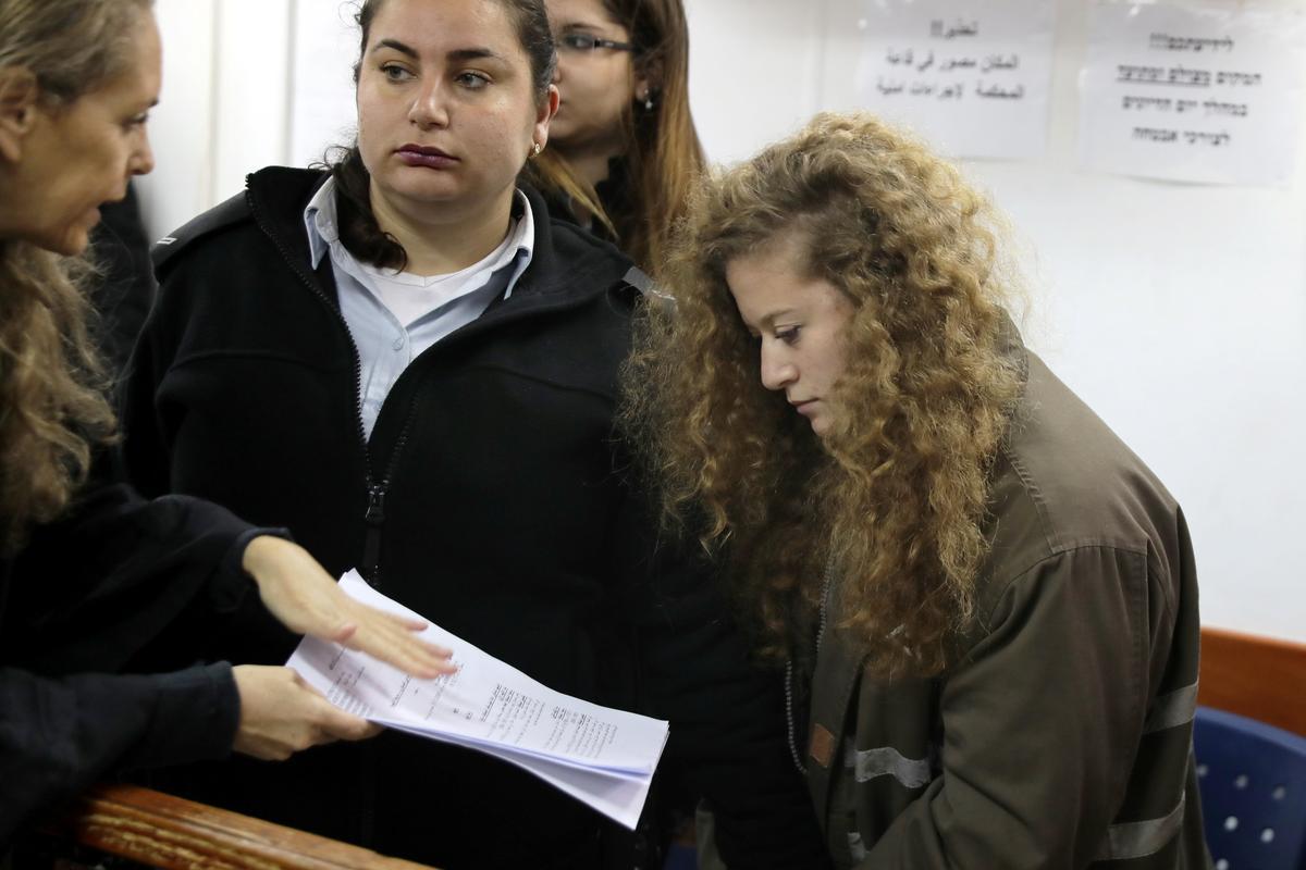 Palestinian teenage girl on trial for striking Israeli soldier