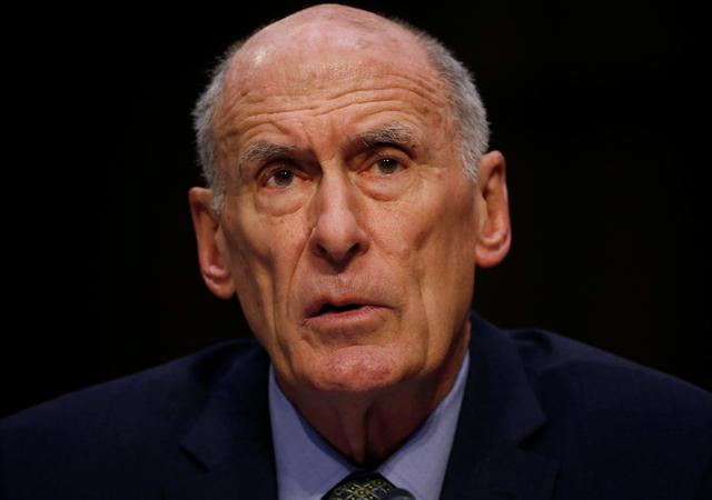 Director of National Intelligence (DNI) Dan Coats testifies during a Senate Intelligence Committee hearing on ''Worldwide Threats'' on Capitol Hill in Washington, U.S., February 13, 2018. REUTERS/Leah Millis