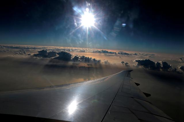 FILE PHOTO: The view from the window of an Emirates airlines flight en route to Islamabad, Pakistan January 8, 2018.  REUTERS/Caren Firouz - RC1858C4B250/File Photo