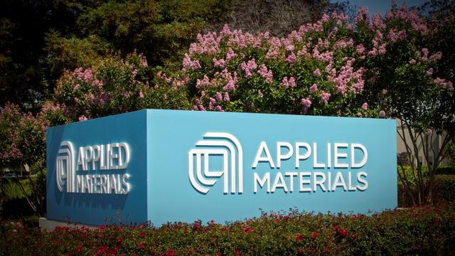 FILE PHOTO:    Applied Materials' new corporate signage photo in Santa Clara, California, U.S. is shown in this image released on August 22, 2016.  Applied Materials/Handout via REUTERS