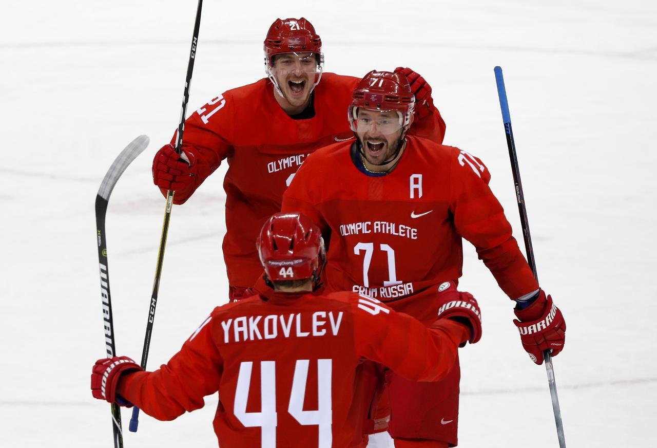 Znalezione obrazy dla zapytania pyeongchang 2018 ice hockey ilya kovalchuk