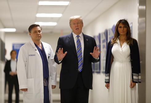 Trump visits Parkland, Florida