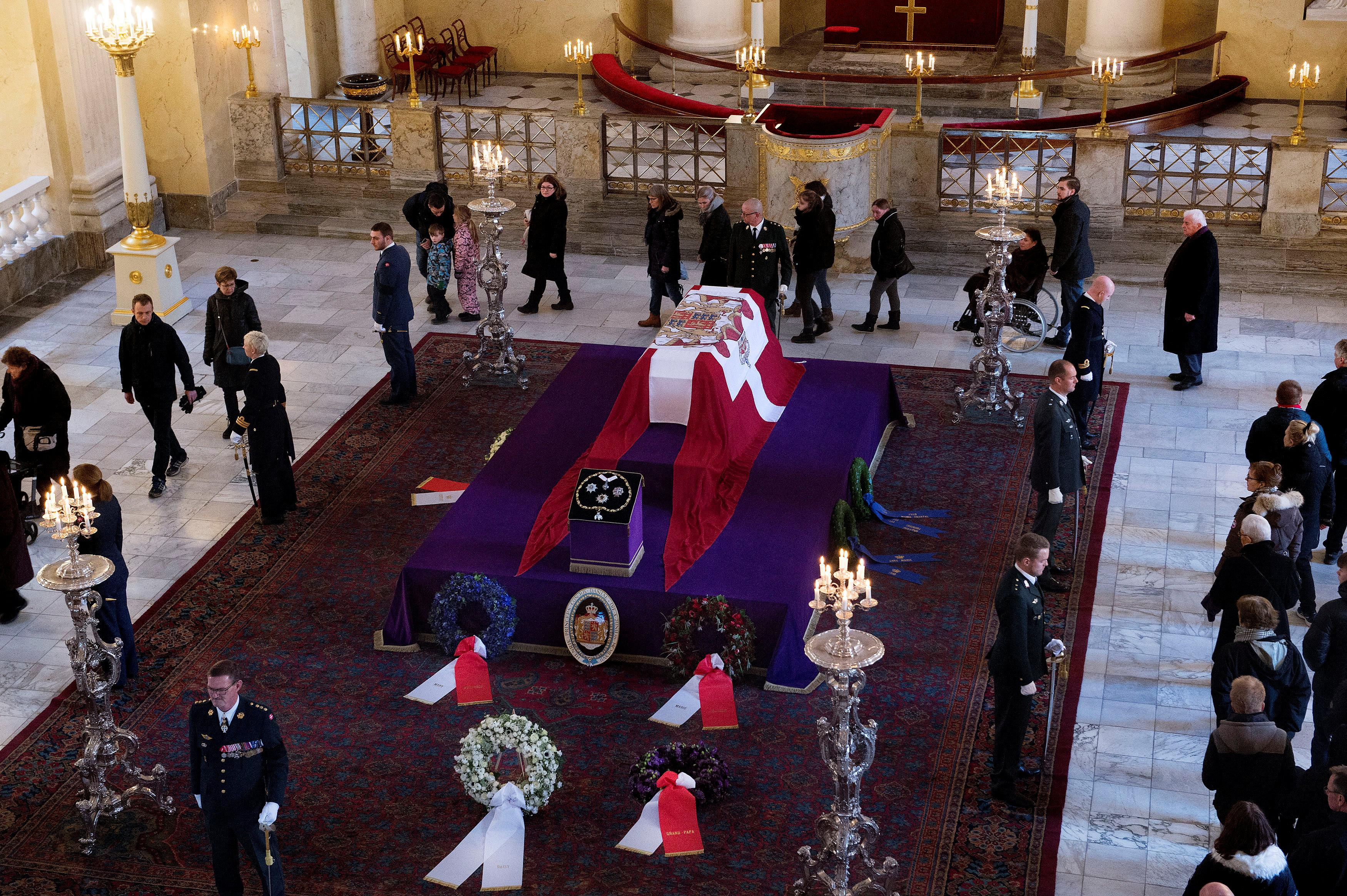 Image result for Danes bid farewell to Prince Henrik, queen's husband who wanted to be king