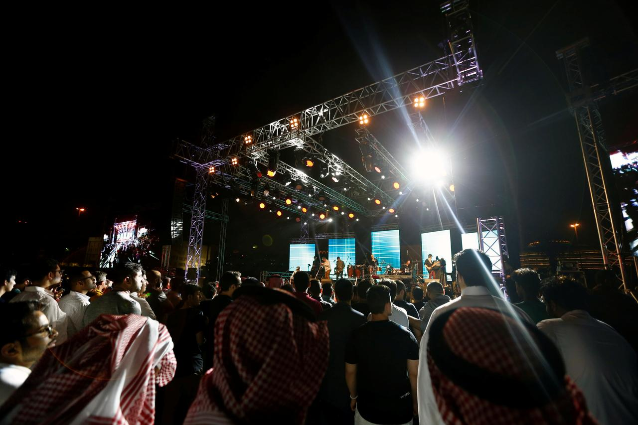 people attend the jazz festival in riyadh saudi arabia february 23 2018 reutersfaisal al nasser