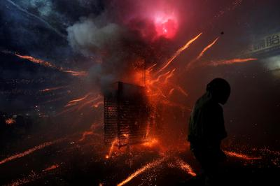 Taiwan's festival of firecrackers