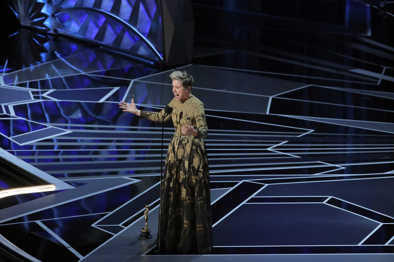 Image result for 90th oscars frances mcdormand