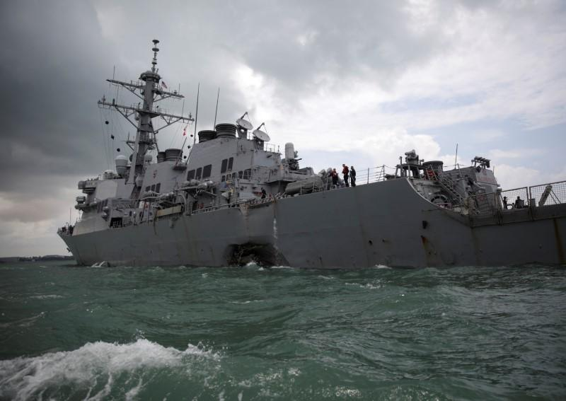 U.S. destroyer McCain collision which killed 10 sailors caused by 'sudden turn': Singapore
