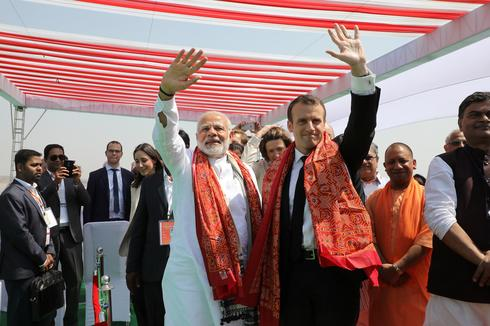 French President Macron visits India