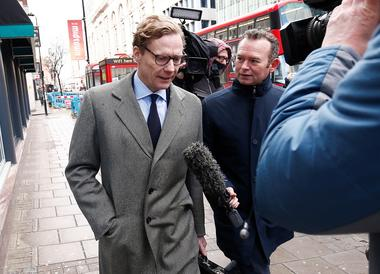 Alexander Nix, CEO of Cambridge Analytica arrives at the offices of...