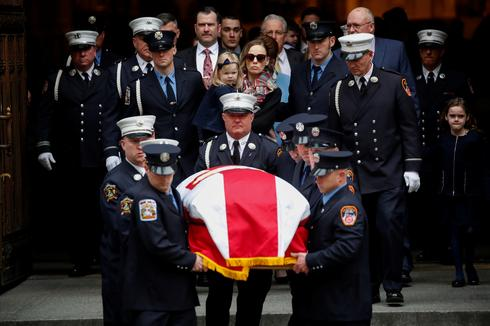 Funeral for NYC firefighter