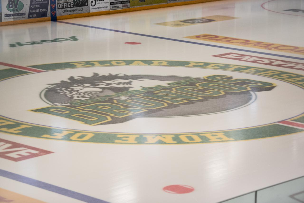 Ice hockey world shocked by fatal junior team crash in canada the humboldt broncos logo at centre ice at the elgar petersen arena in humboldt saskatchewan canada april 7 2018 reutersmatt smith dailygadgetfo Gallery