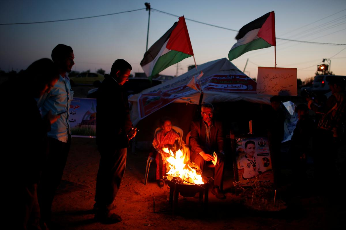 In Gaza Family Lights Candles To Mourn Son On His 14th