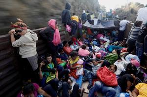 Migrant train through Mexico