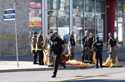 Van plows into pedestrians in Toronto