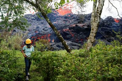 Hawaii's creeping lava