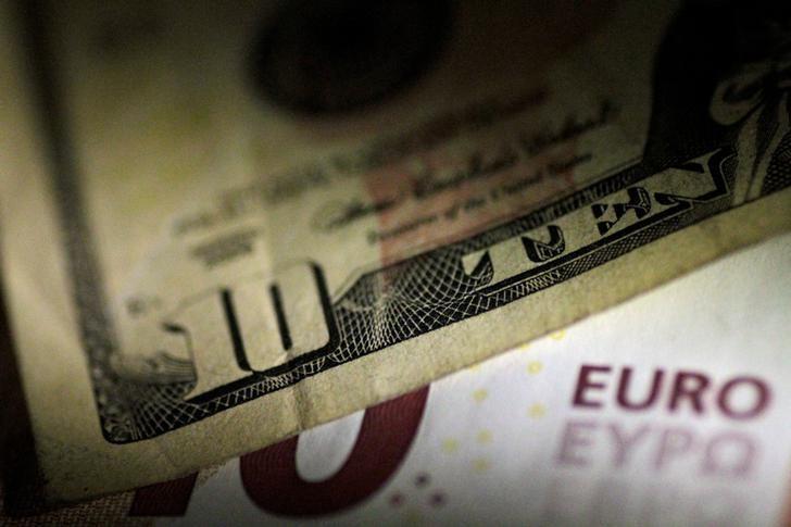 Euro slips on Italian political risk and U.S. bond yield rise