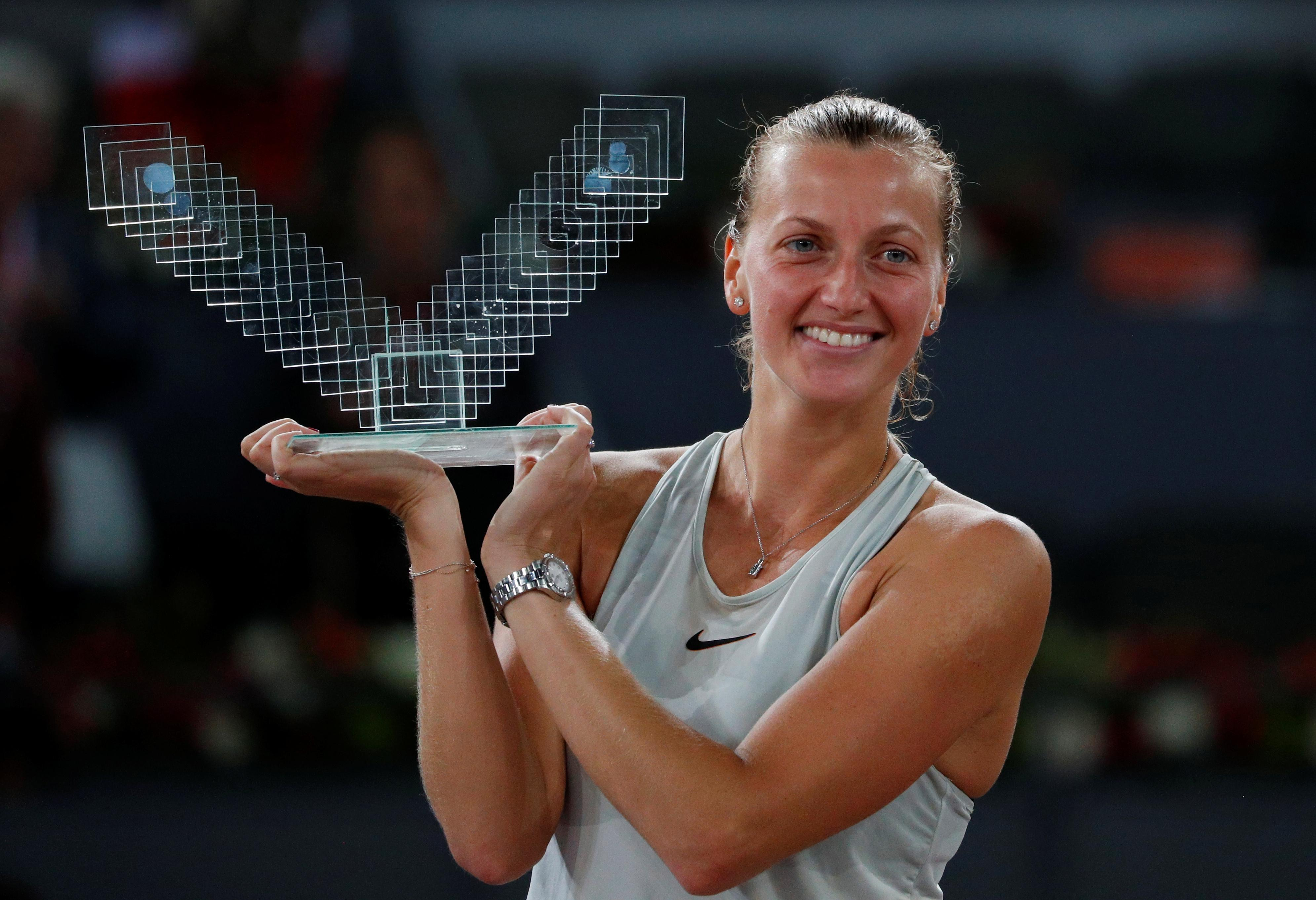 Tennis: Kvitova hails 'crazy' year following knife attack