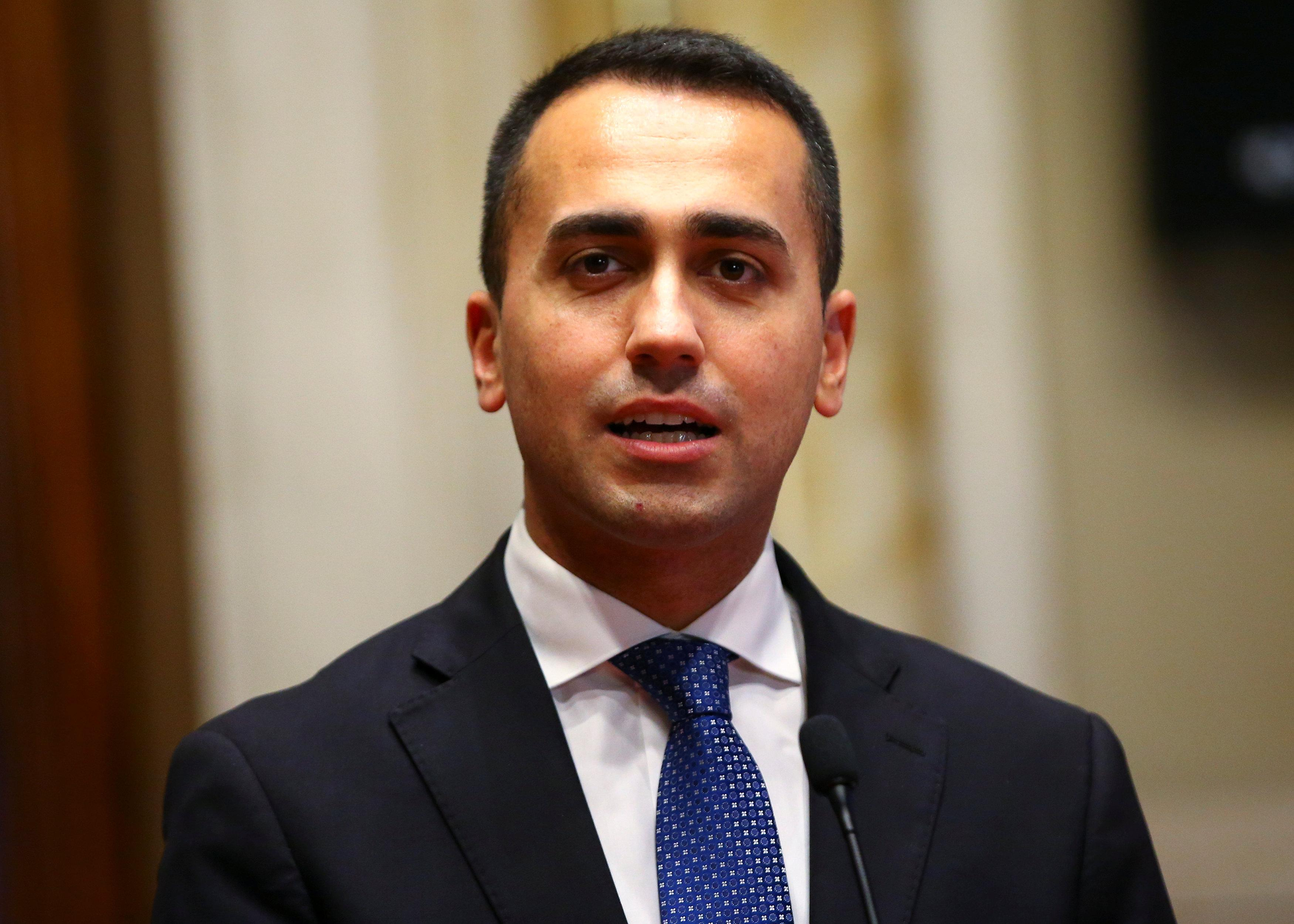 Italy's 5-star movement leader calls for peaceful protests