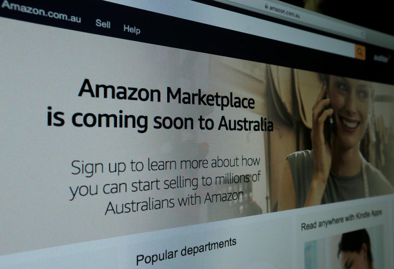 5月31日、米アマゾン・ドット・コムは、オーストラリアのユーザーによる米国サイトの利用を7月1日から停止すると発表した。写真は昨年4月撮影(2018年 ロイター/Jason Reed)