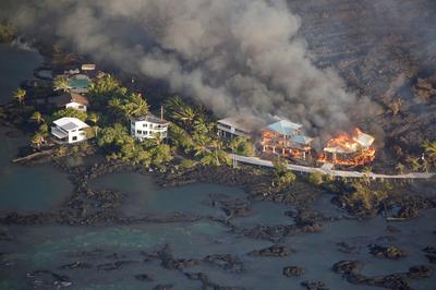 Kilauea's destruction from above