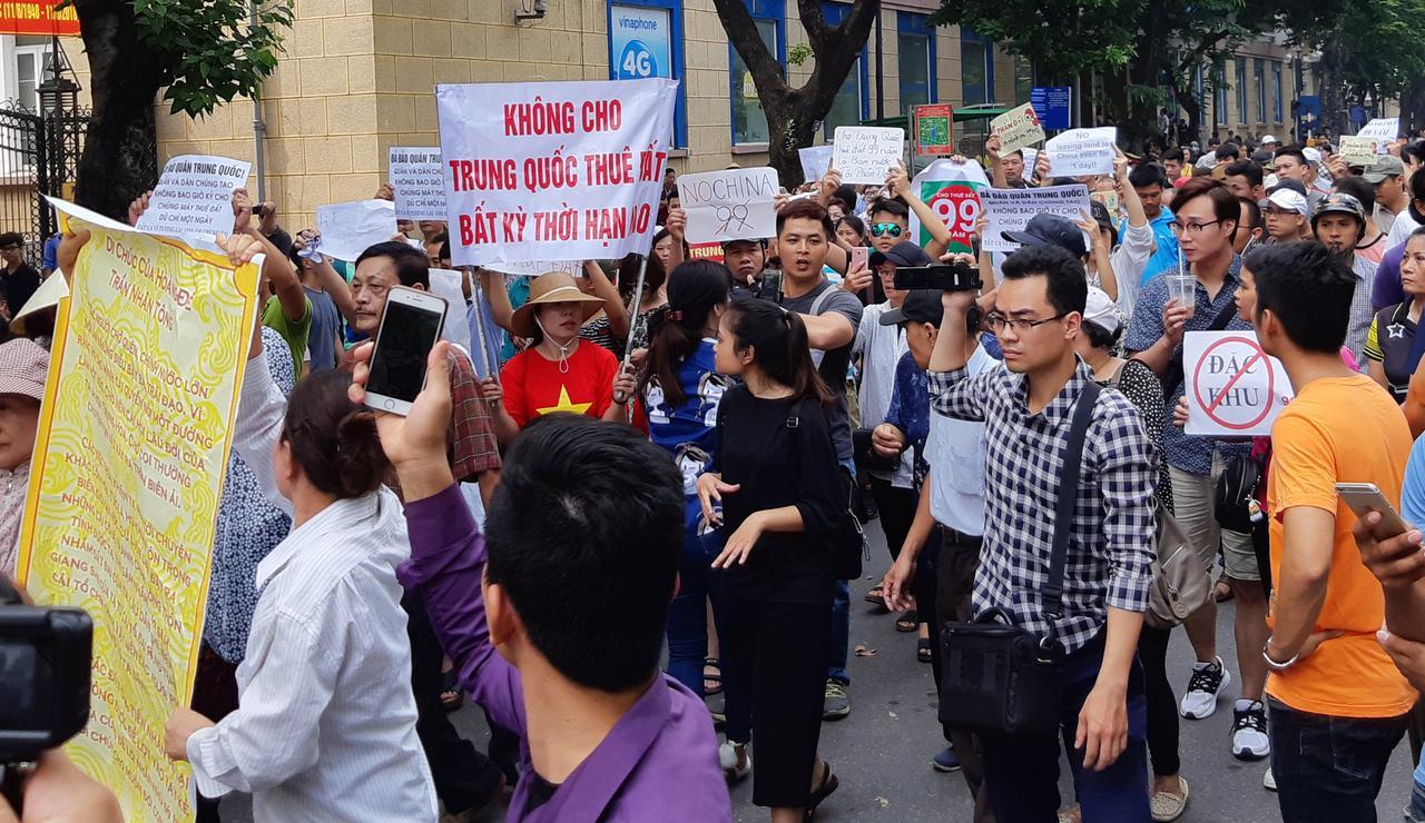 Kết quả hình ảnh cho Vietnam police halt protests against new economic zones