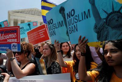 Protesting Trump's travel ban