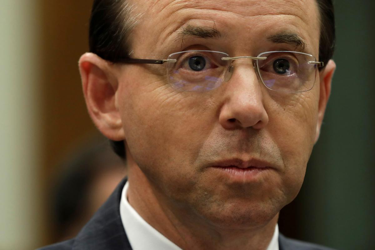Image result for House Republicans shout down Deputy Attorney General Rosenstein in tense hearing