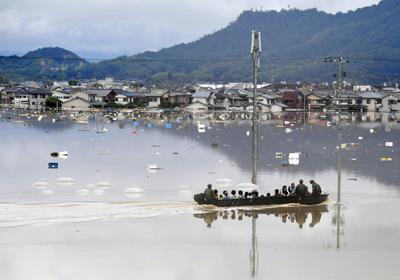 Deadly torrential rains pound Japan