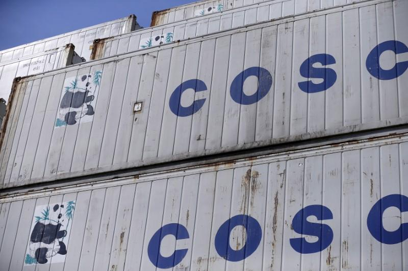 China's COSCO Shipping wins U S  security clearance for OOIL
