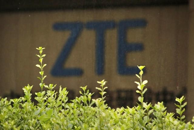 The logo of China's ZTE Corp is seen at the lobby of ZTE Beijing research and development center building in Beijing, China June 13, 2018. Jason Lee