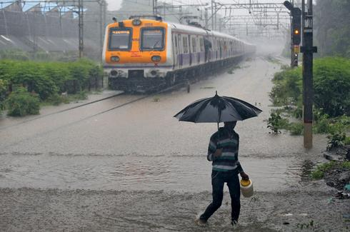 Waterlogged: rain brings chaos to Mumbai