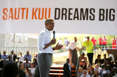 Obama visits his ancestral Kenyan village