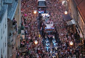 Croatia celebrates World Cup success