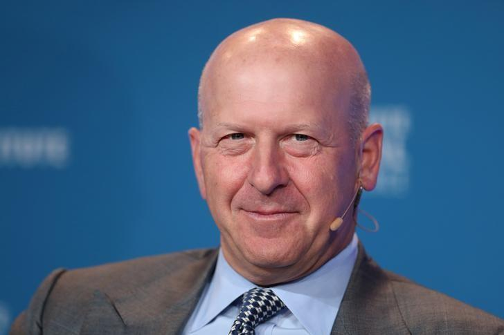 David M. Solomon, President and Chief Operating Officer, Goldman Sachs, speaks at the Milken Institute's 21st Global Conference in Beverly Hills, California, U.S. April 30, 2018. Lucy Nicholson
