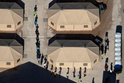 Tent city for immigrant children in Texas