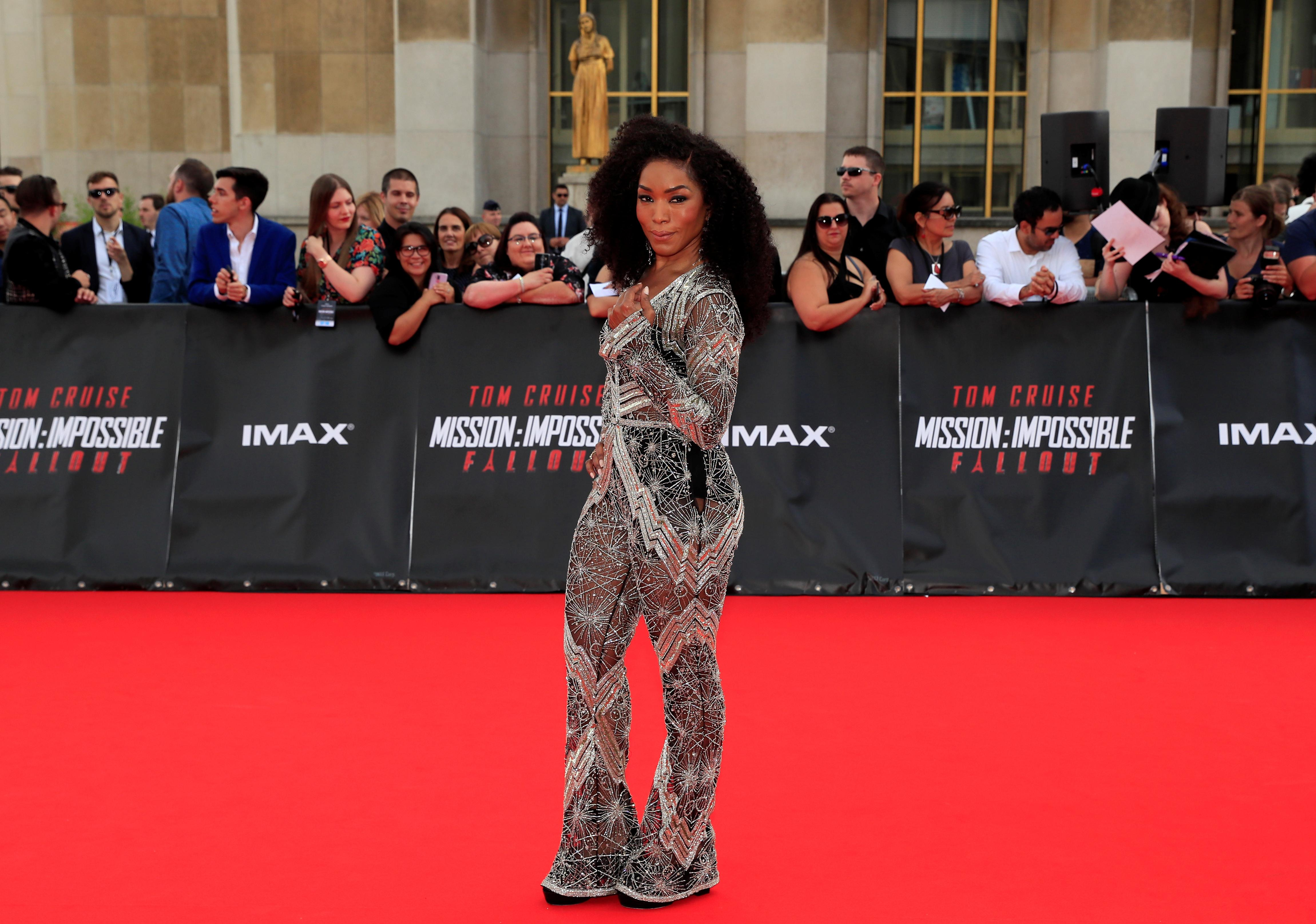 Cast member Angela Bassett poses during a photocall for the world premiere of