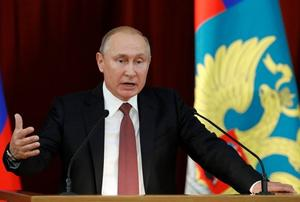 President Putin addresses Russian ambassadors and representatives to...