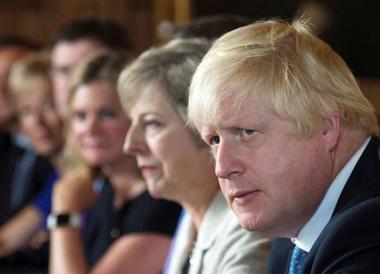 FILE PHOTO - Foreign Secretary Boris Johnson attends a cabinet meeting...