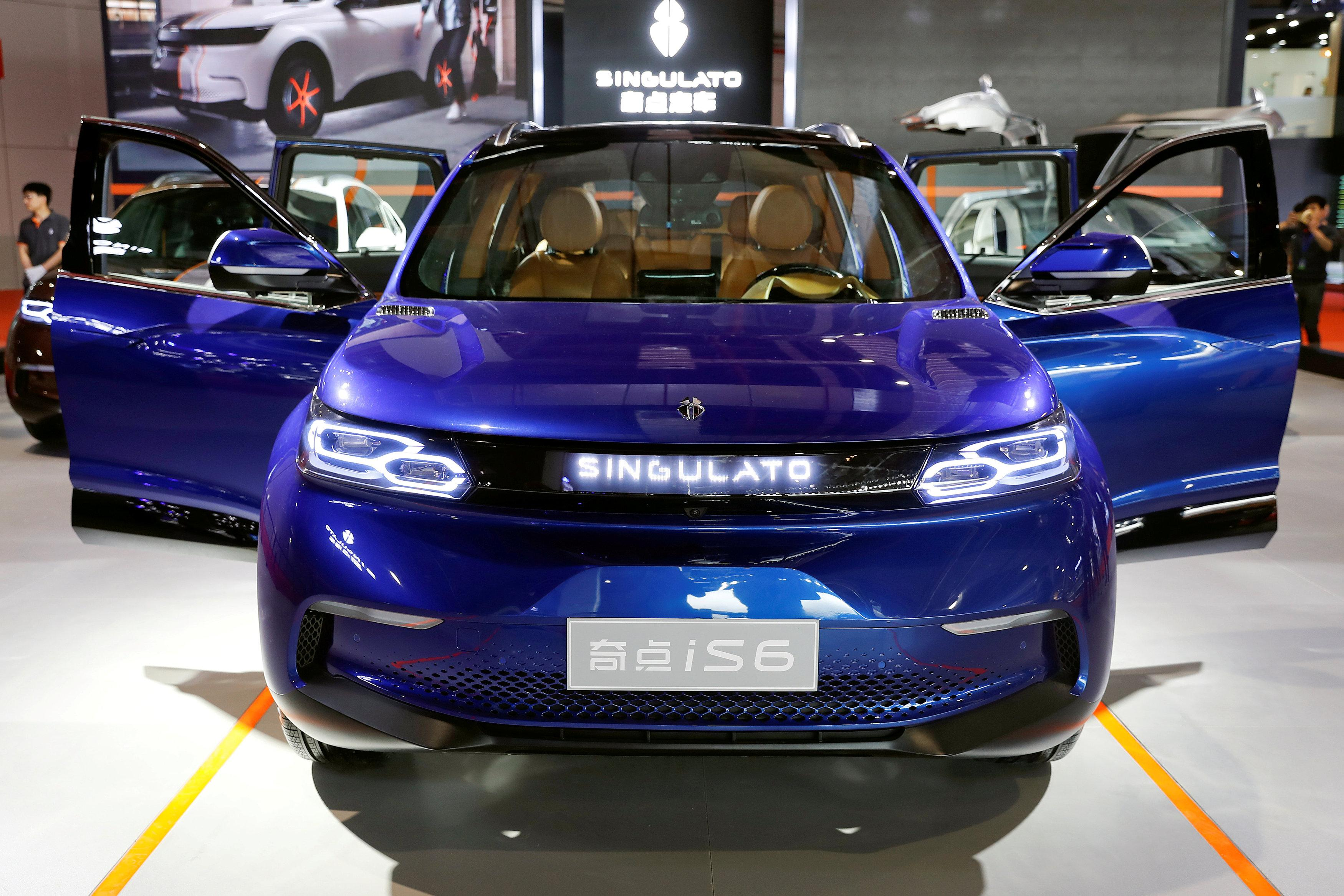 A Singulato iS6 is displayed at Shanghai Auto Show, during its media day, in Shanghai, China April 19, 2017. Aly Song