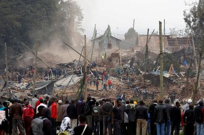 Slums demolished for new Kenyan road