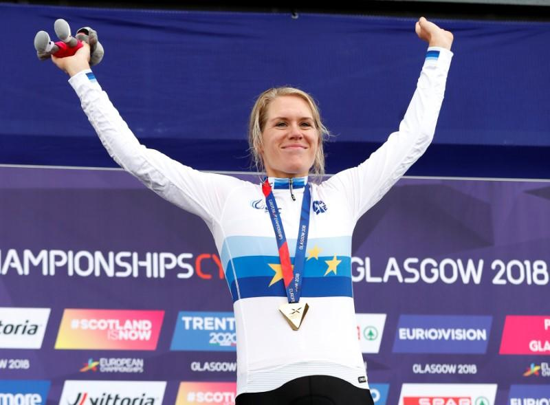 Cycling - Van Dijk and Campenaerts win thrilling time trial