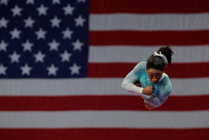 Biles wins fifth all-around title at U.S. Champs