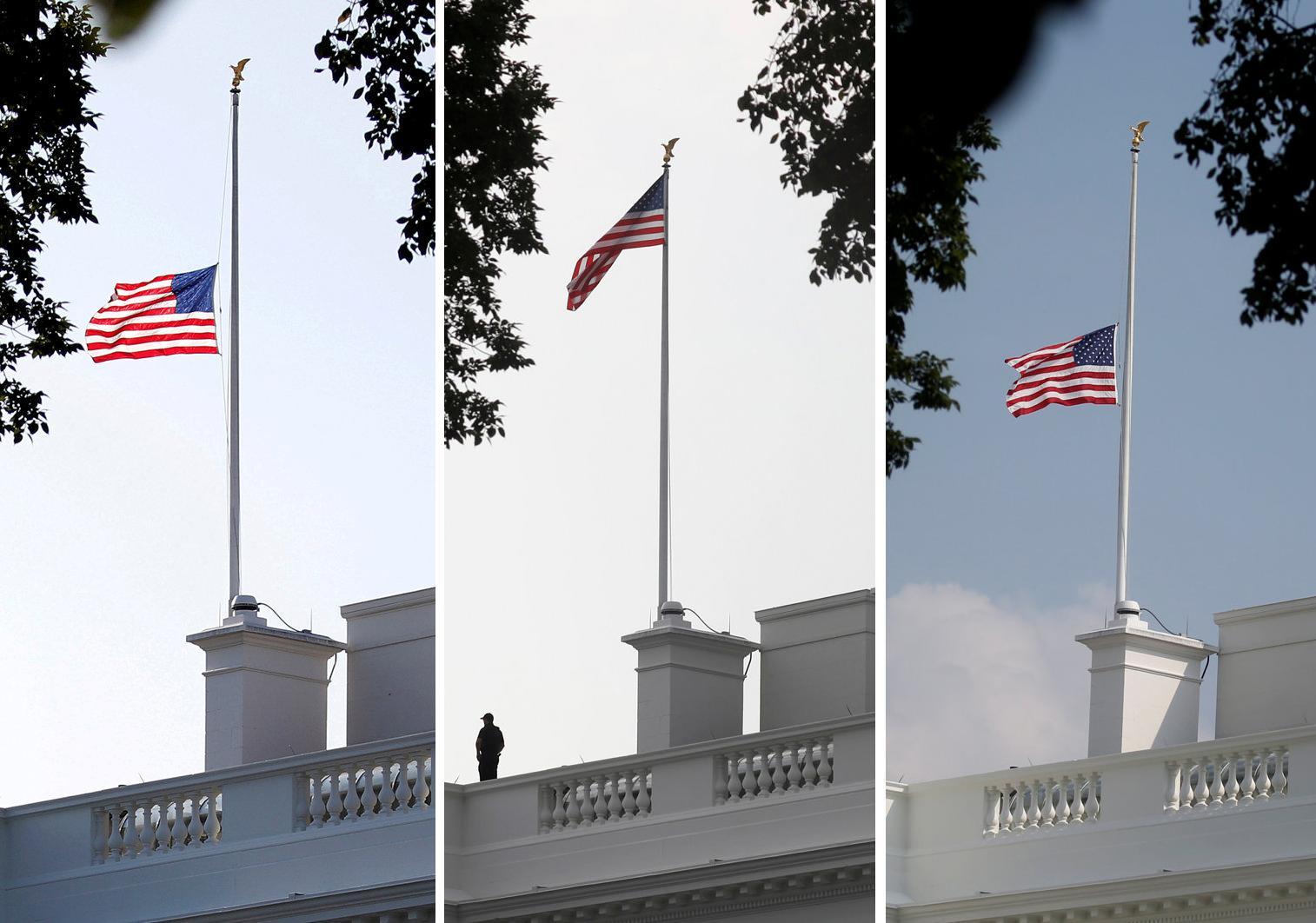 Stupendous White House Wobbles On U S Flag After Mccain Death Reuters Download Free Architecture Designs Scobabritishbridgeorg