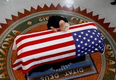 John McCain lies in state
